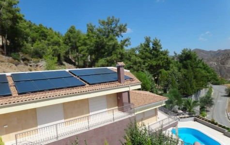 SOLAR SPACE HEATING for Residence 400m²